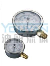 耐震壓力表 AT-40-150K AT-40-250K AT-40-350K AT-40-500K 油研耐震壓力表 AT-40-150K AT-40-250K AT-40-350K AT-40-500K
