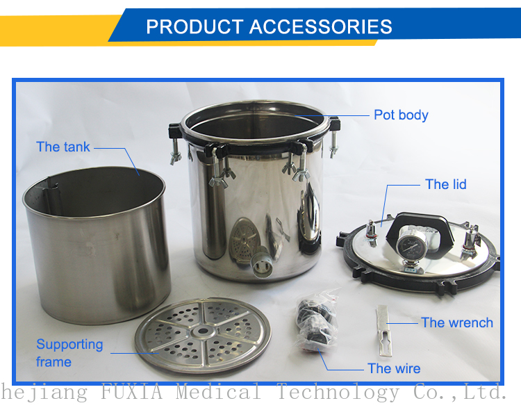 XFS- 280CB/CB+  Portable Touch screen Stainless Pressure Autoclave