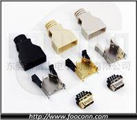 SCSI連接器/HPCN連接器/SCSI 14PIN CN型 卡勾按鍵式 焊線公頭 SCSI 14PIN CN型 卡勾按鍵式 焊線公頭