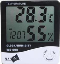 Jumbo screen temperature & humidity meter WS-608