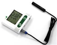 External probe temperature & humidity data logger