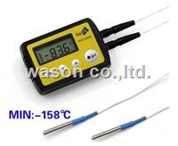 External dual/double probe deep cryogenic temperature data logger  WS-T21SLPRO