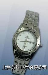 (雙日歷不銹鋼)石英手表近電報警器