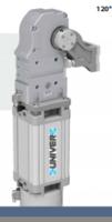 安装UNIVER的大力翻转气缸/夹爪气缸