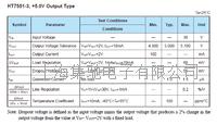 HT7551-3 5.0V微功耗穩壓芯片:HT7551-3