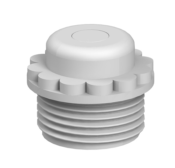 Screw-in nipple, PG thread with perforation membrane