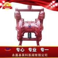 鑄鐵四氟氣動隔膜泵 鑄鐵丁青雙隔膜泵 鑄鐵特氟龍隔離泵 QBY-25
