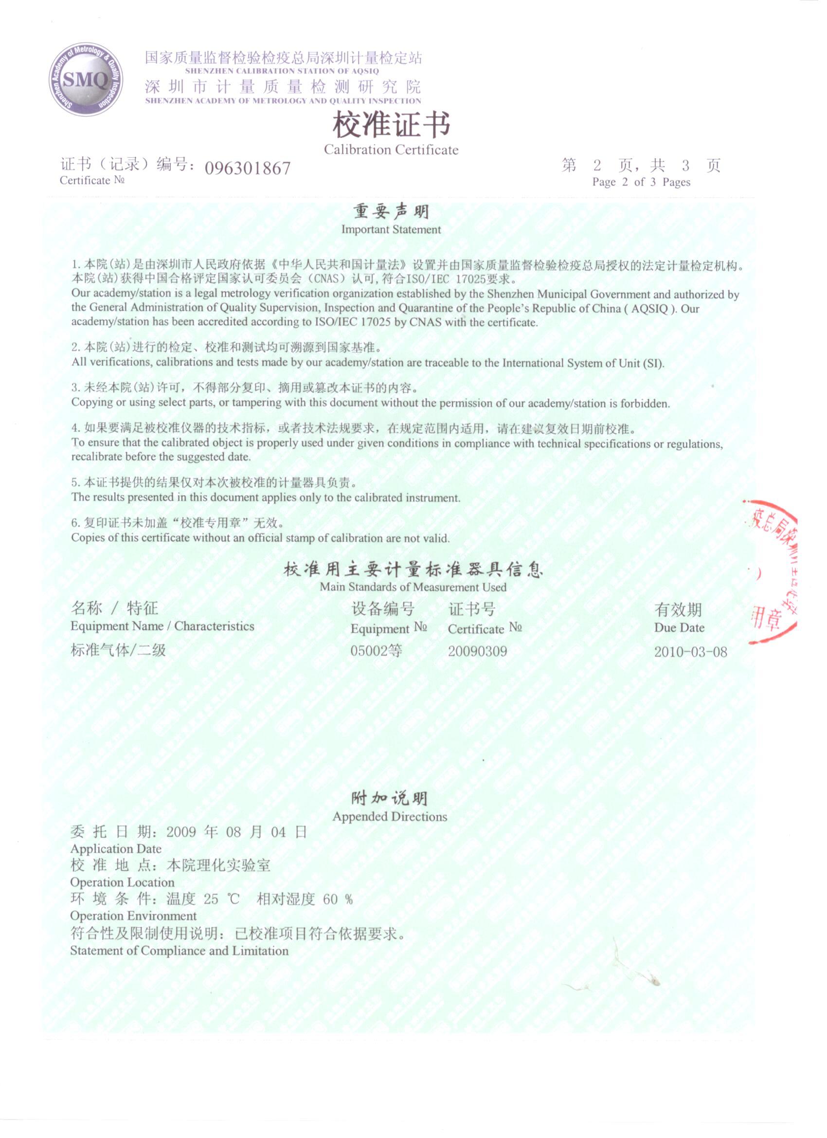 二氧化碳传感器检测报告2