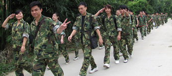 2010年10月16日:凝聚團隊力量,野外拓展訓練