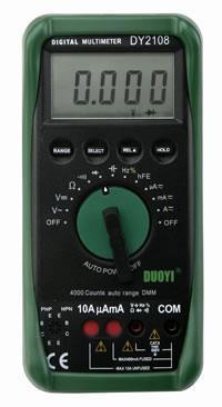 DY2108智能型数字万用表 DY2108