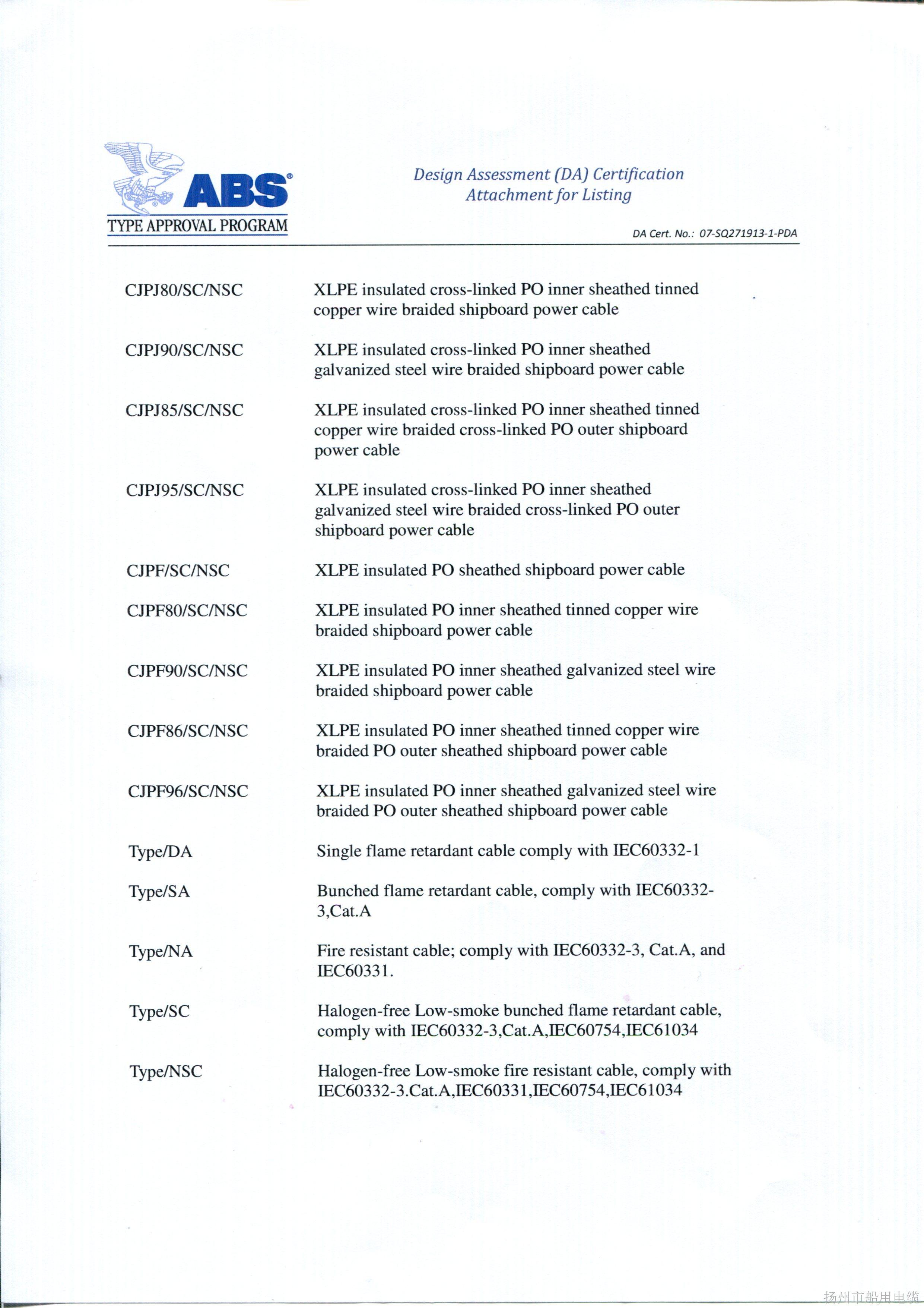 ABS证书6